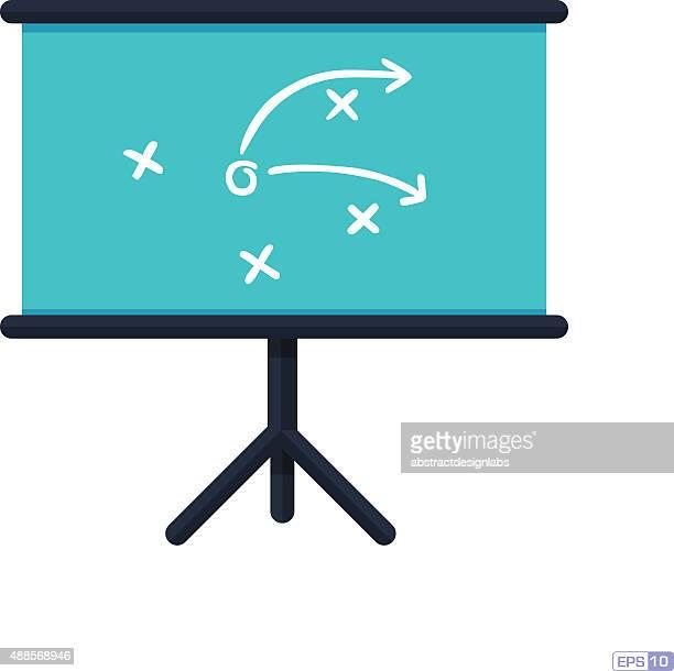 Strategy or Game plan on blackboard