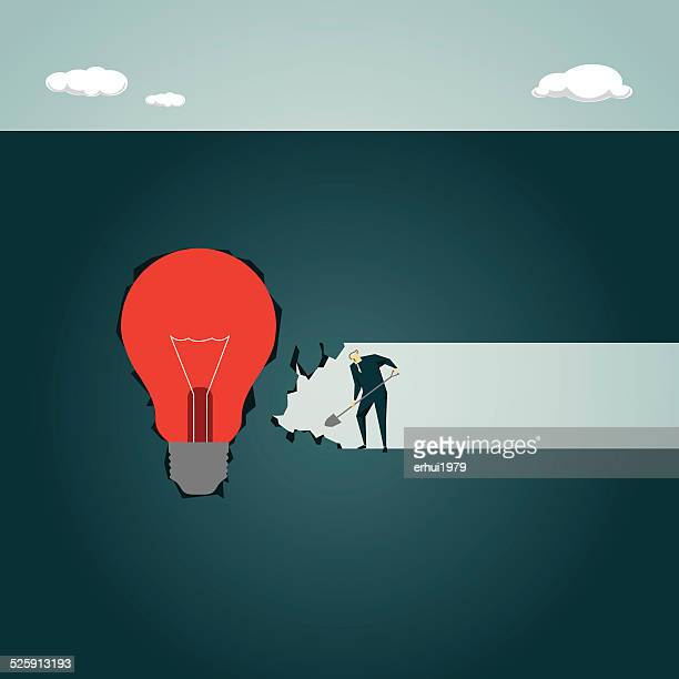 Strategy,Solution, Light Bulb, Lamp,Creativity, Inspiration, Cave, Underground