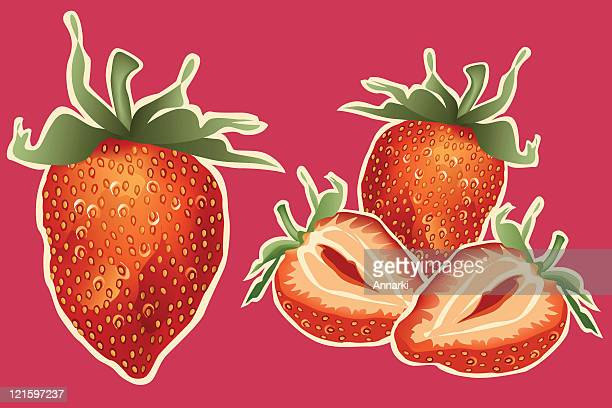 strawberries! - perennial stock illustrations, clip art, cartoons, & icons