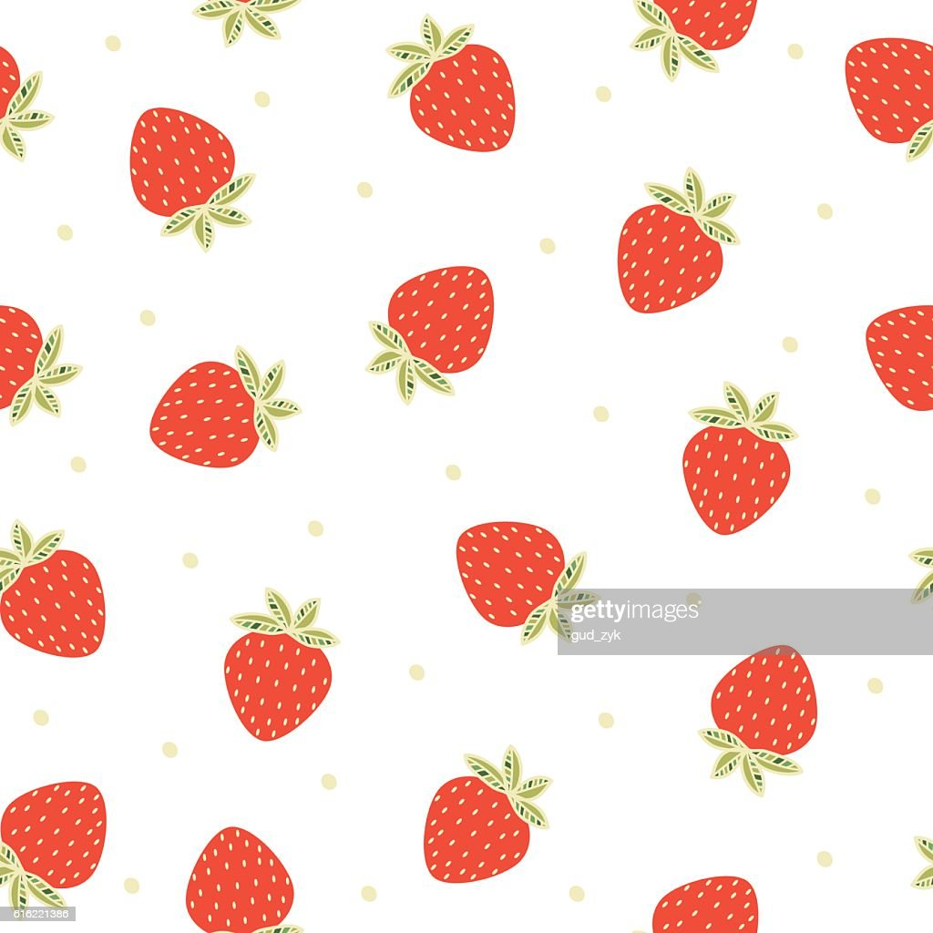 Strawberries. : Vectorkunst