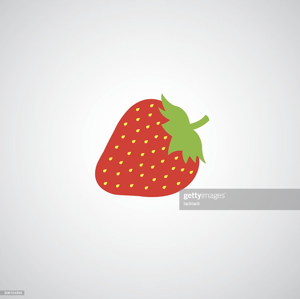 strawberry apple vector