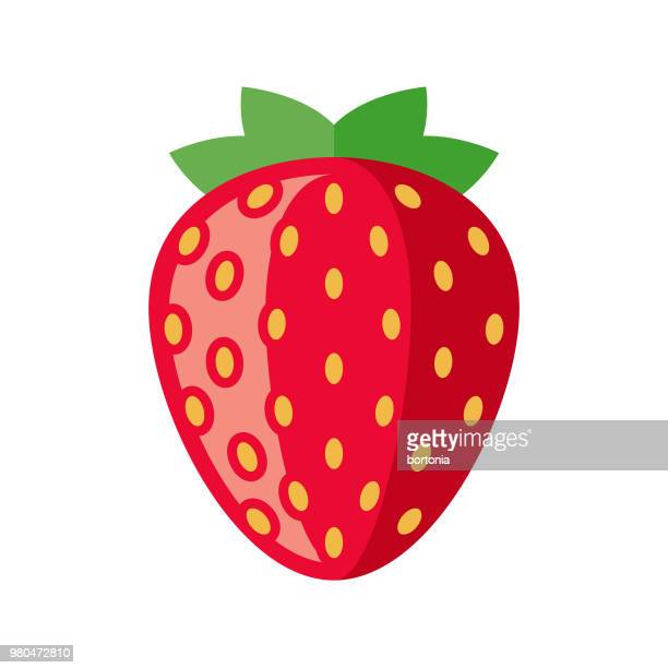 Strawberry Flat Design Fruit Icon