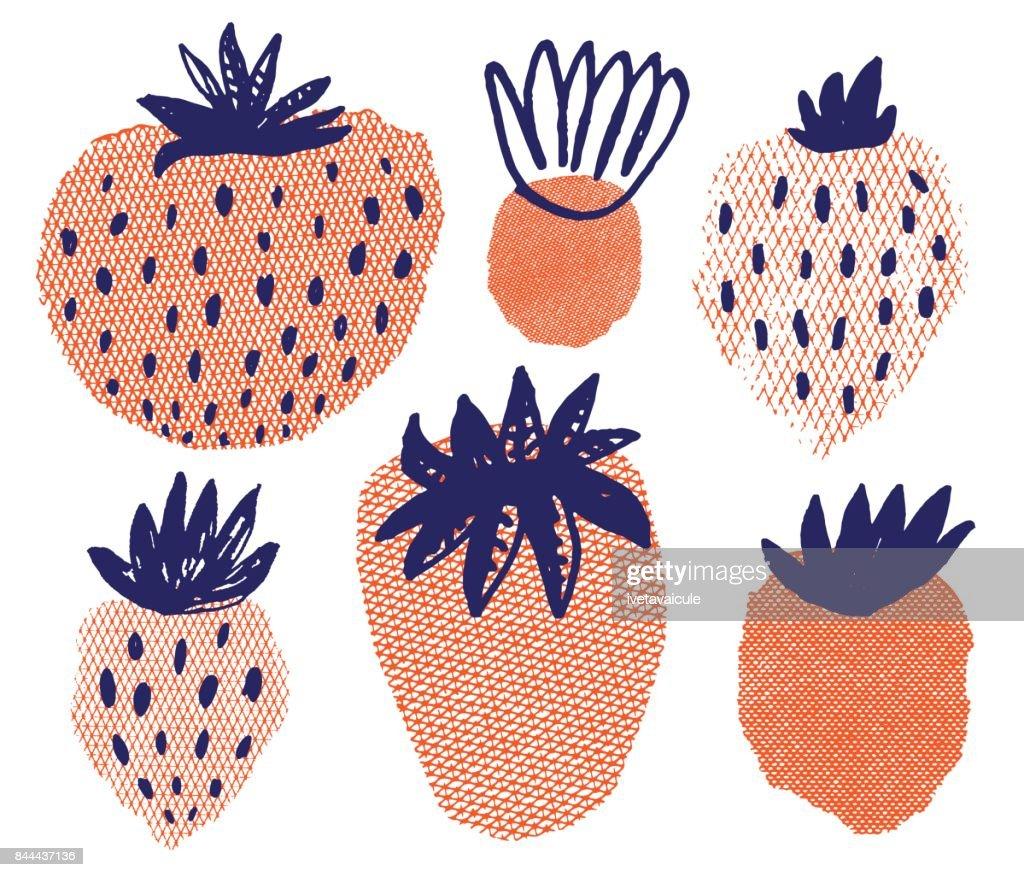 Strawberry : stock illustration