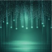 Stream of binary code. Background.