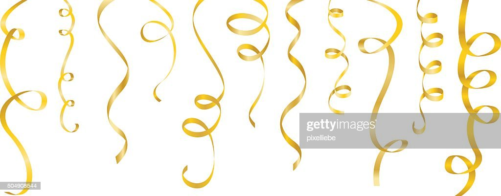 streamers gold set