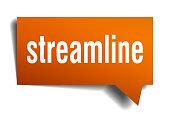 streamline orange 3d speech bubble
