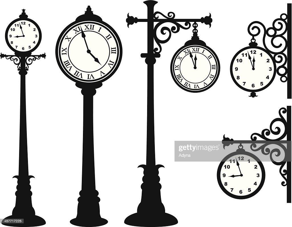 Street Clock : stock illustration
