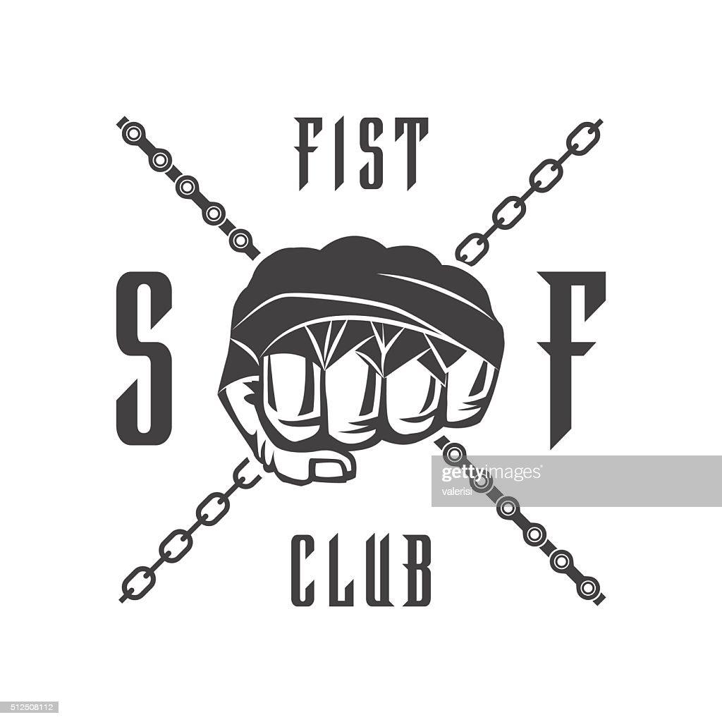 Street fighting club emblem