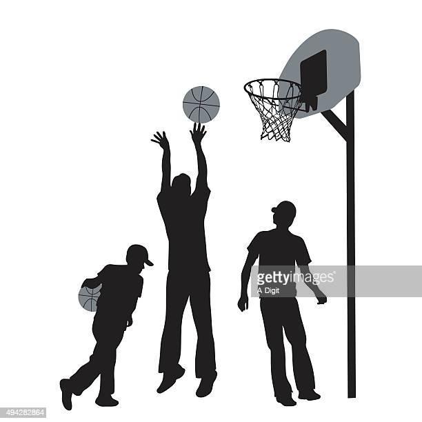 ilustraciones, imágenes clip art, dibujos animados e iconos de stock de calle de juegos - canasta de baloncesto