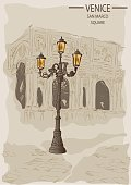 Street lamp in the Piazza San Marco in Venice