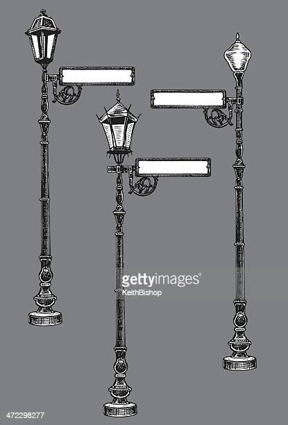 Lámparas de calle con señal