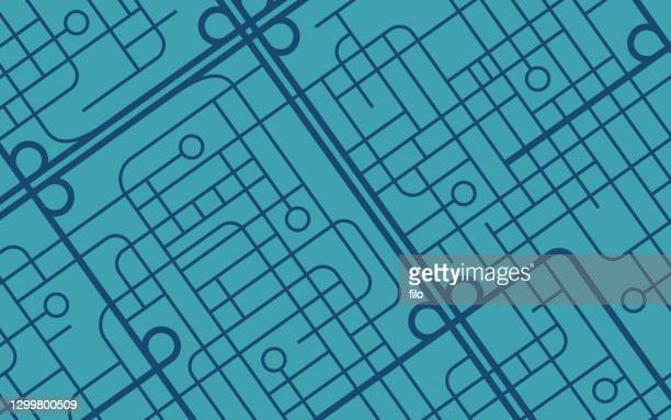 street map background - road marking stock illustrations