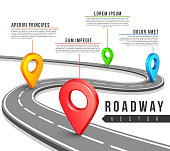 Street road map for vector business infographics design