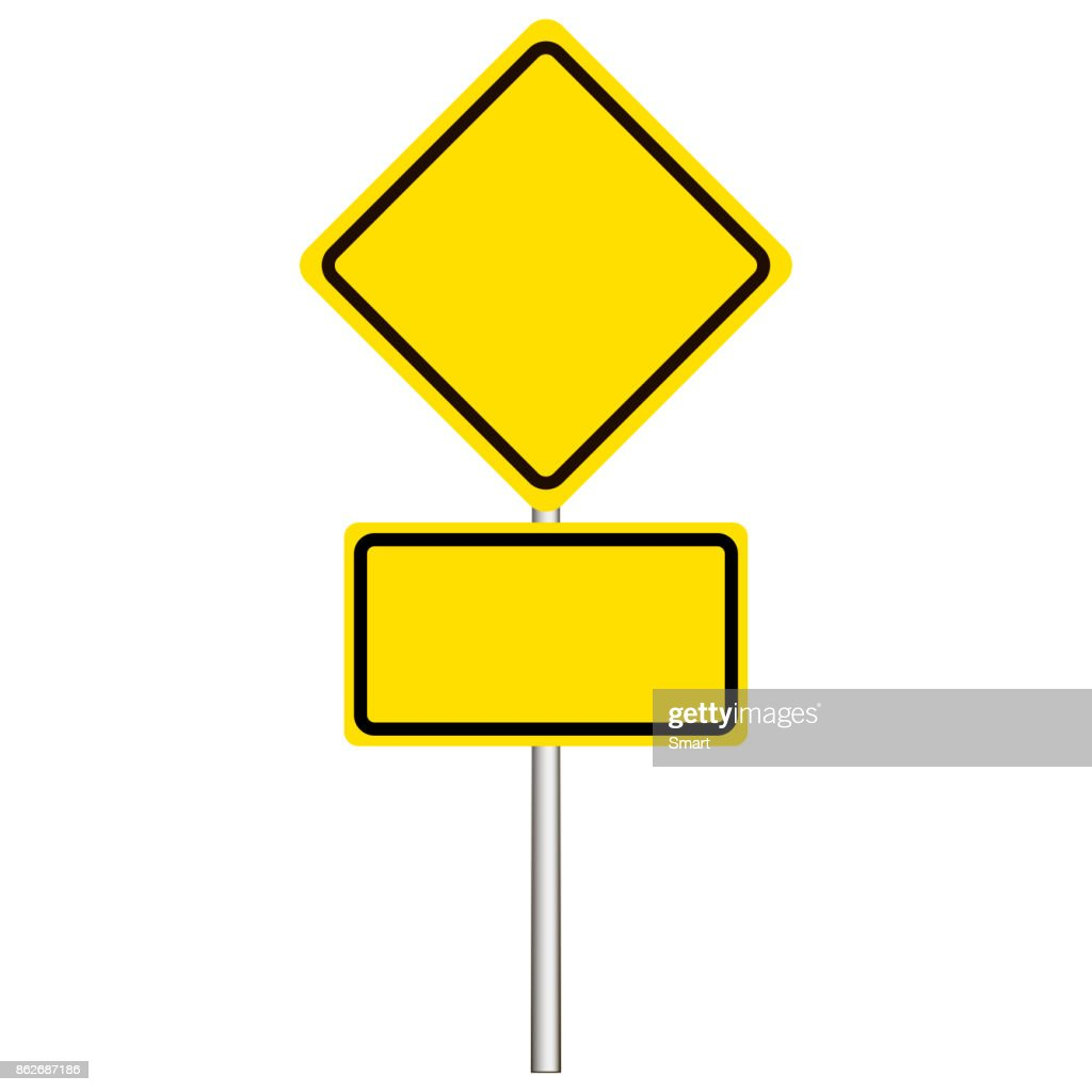 Street, road sign, main road sign on a white background