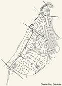 detailed navigation urban street roads map
