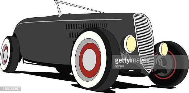 street rod 1932 ford - low rider stock illustrations
