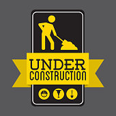 A street sign saying under construction
