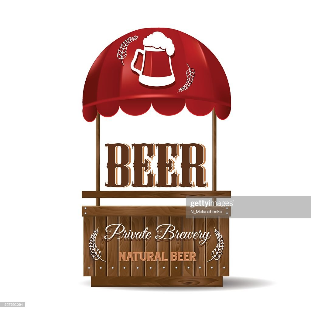 Street stall for the sale of beer.
