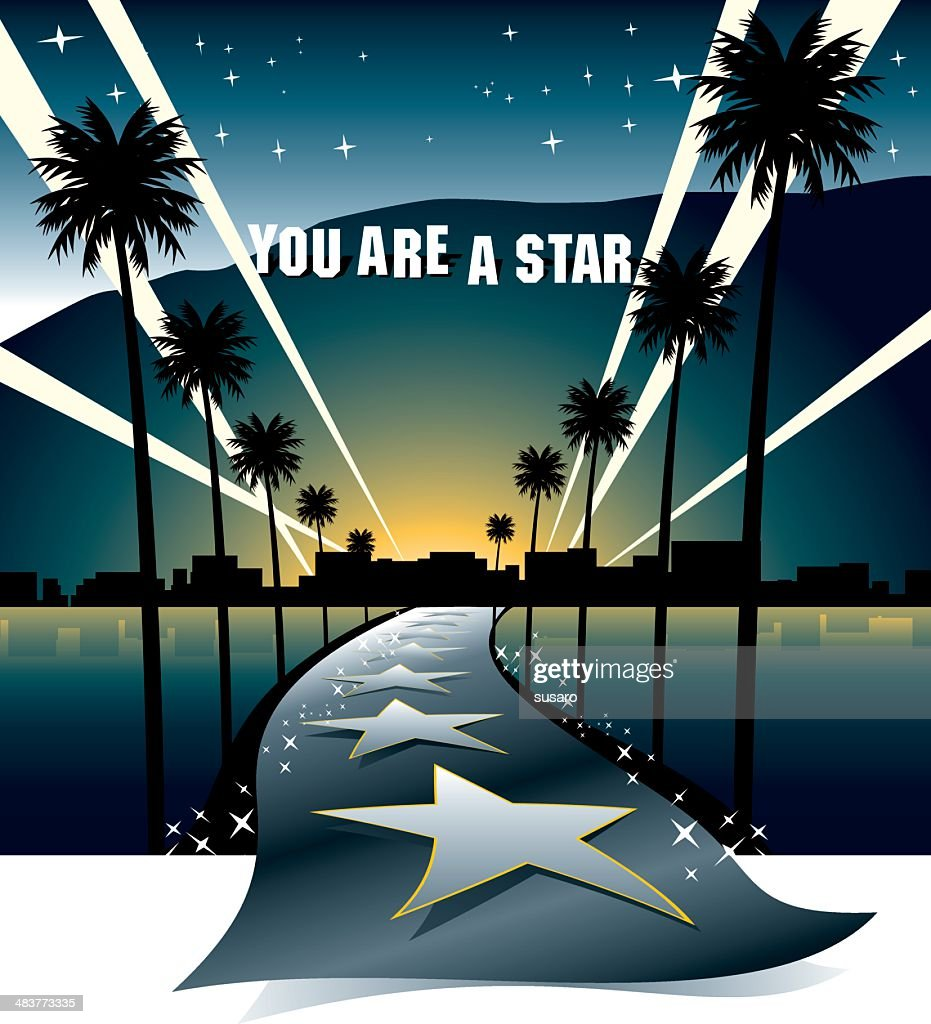 Street to the Stars : stock illustration
