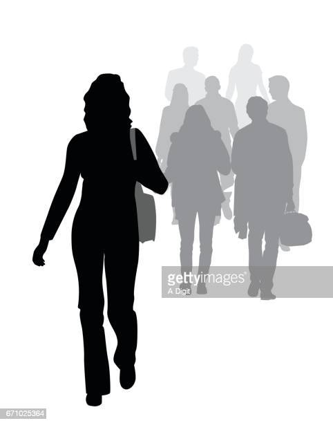 street walking - pedestrian stock illustrations