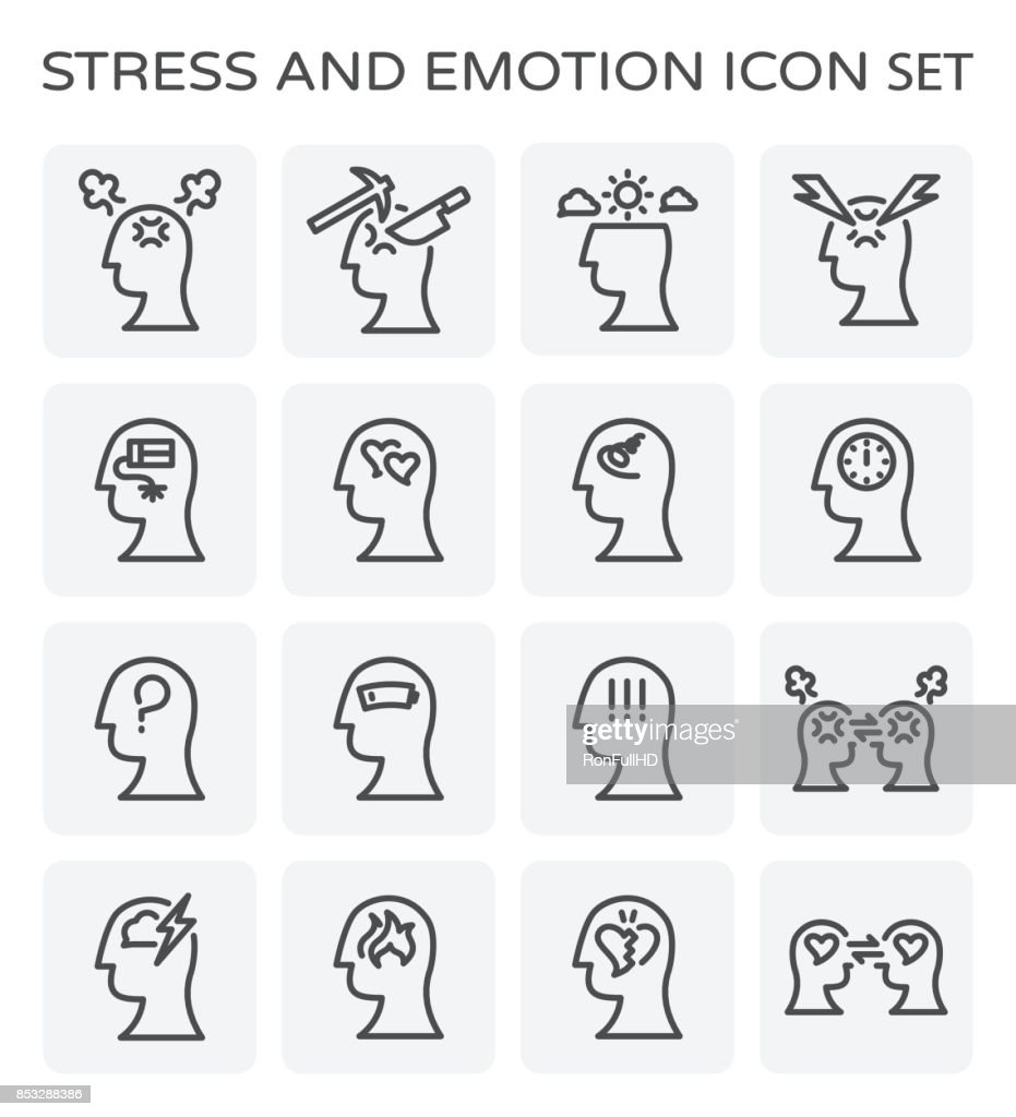 stress emotion icon