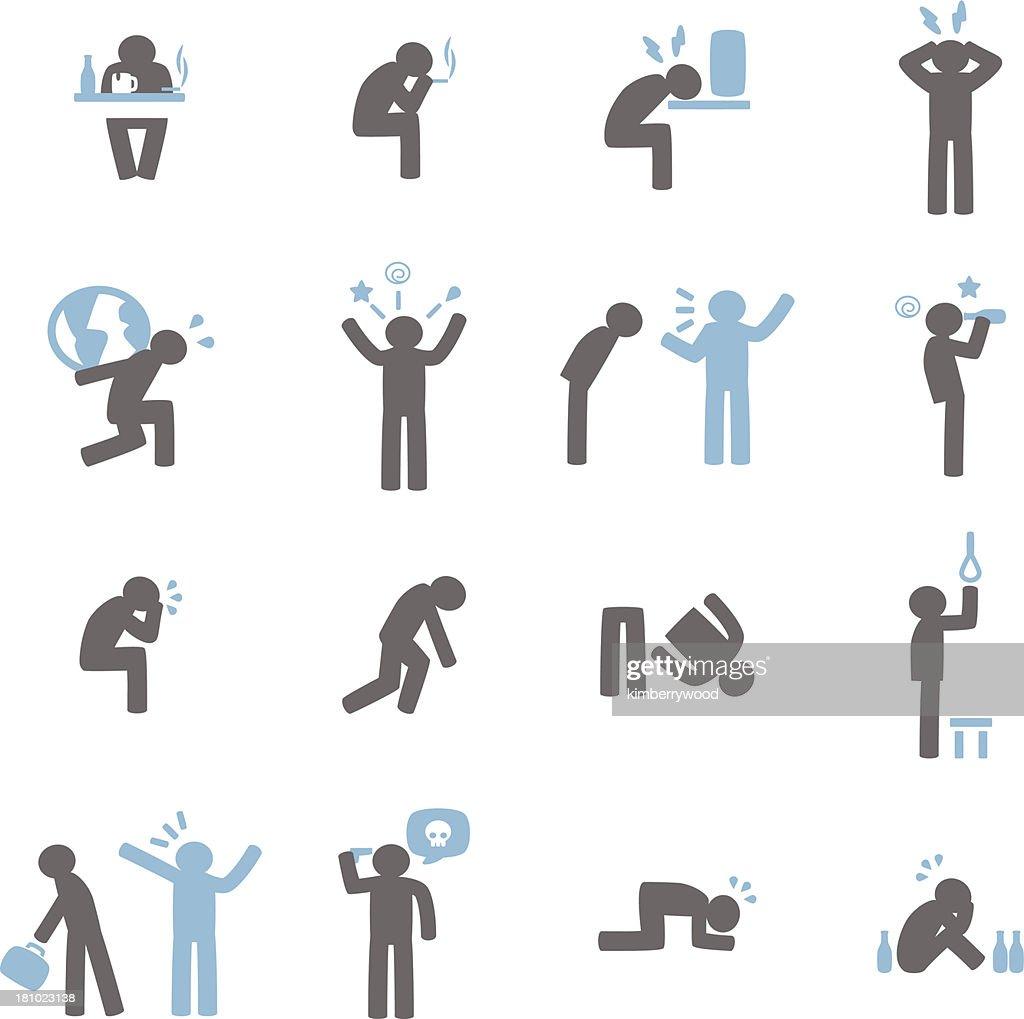 Stressed Icon : stock illustration