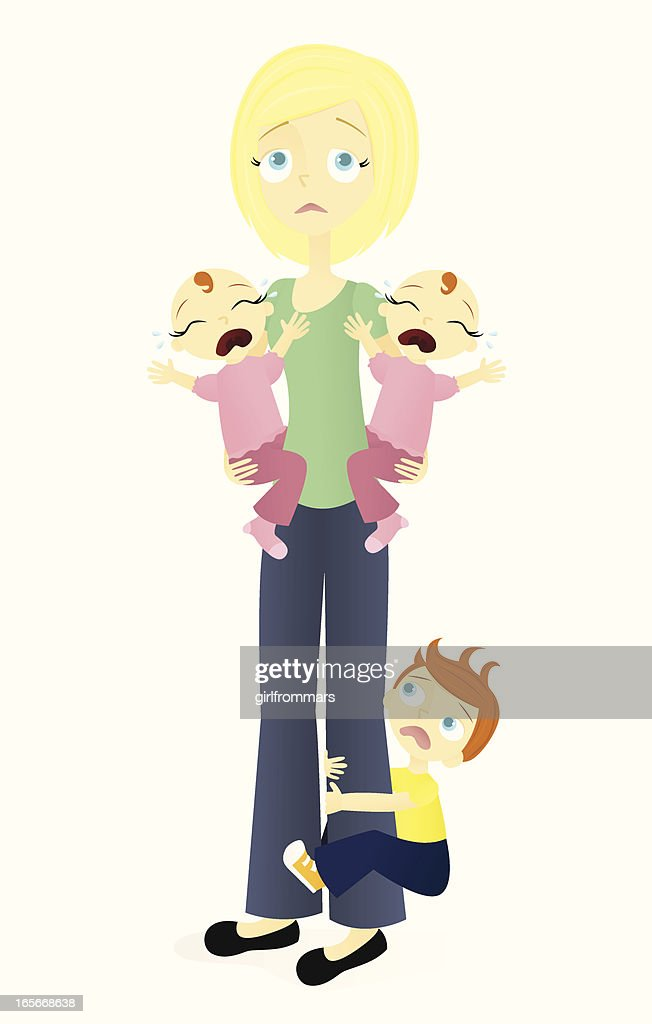 Stressed Mom with Twins and Toddler