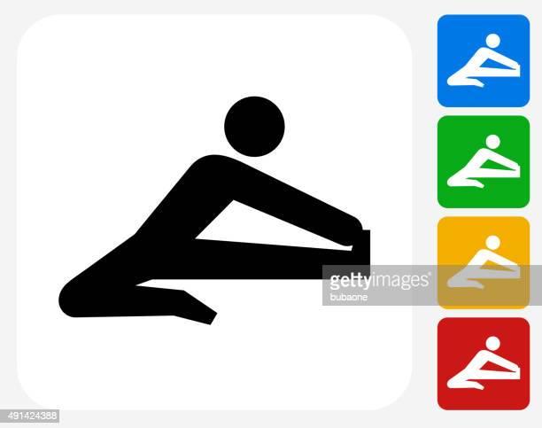 stockillustraties, clipart, cartoons en iconen met stretch icon flat graphic design - military