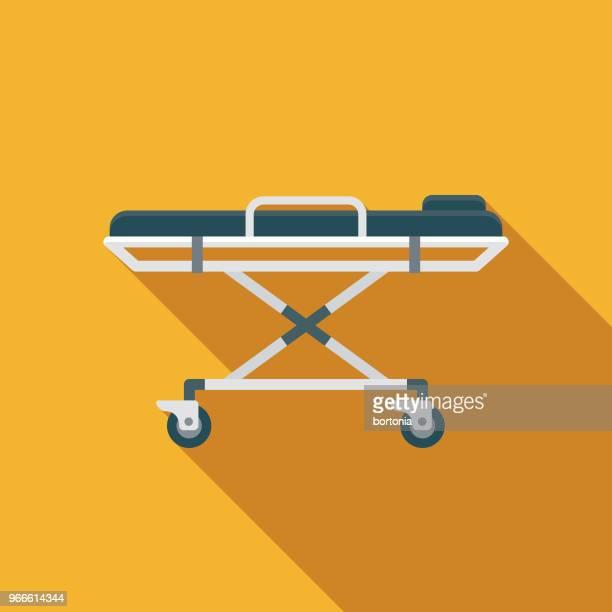 Stretcher Flat Design Emergency Services Icon