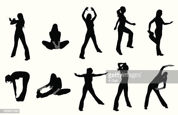 Stretching Vector Silhouette