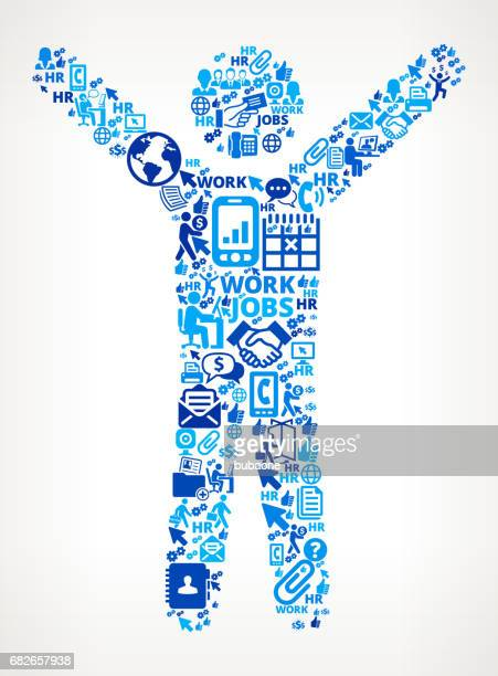 Stretching  Work and Employment Corporate Icon Background