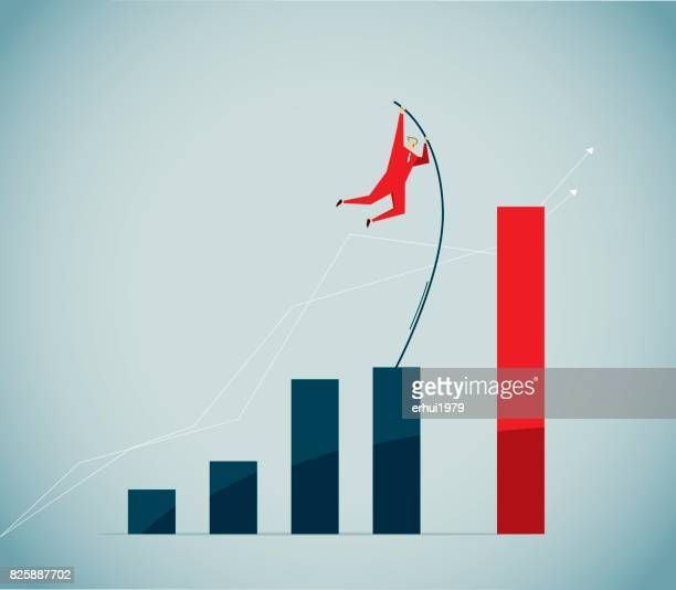 striding - pole vault stock illustrations