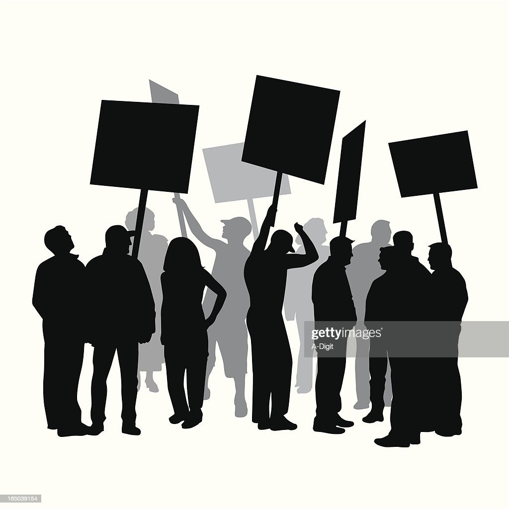 Strike Protest Union Vector Silhouette