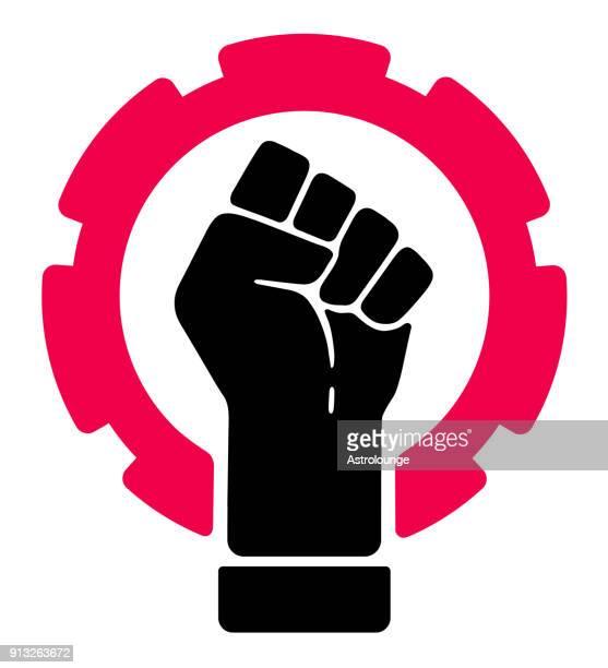 strike symbol - revolution stock illustrations, clip art, cartoons, & icons