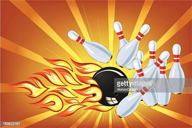 strike! - bowling ball stock illustrations, clip art, cartoons, & icons