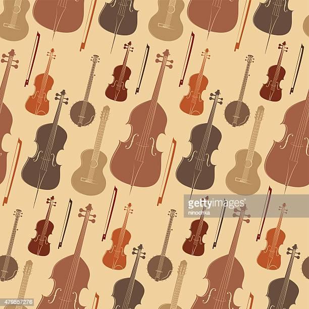 instruments à cordes motif