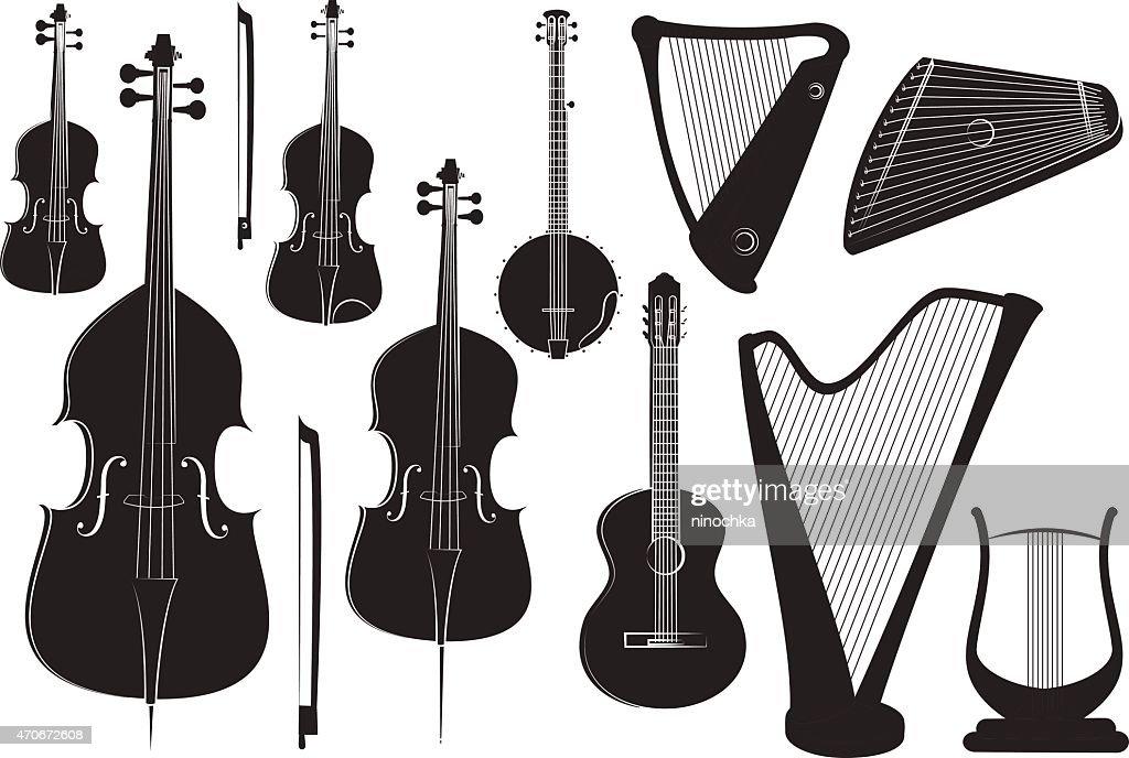 String instruments : stock illustration