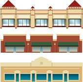 Strip Mall Shopping Centers