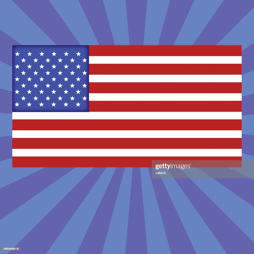 Striped american flag