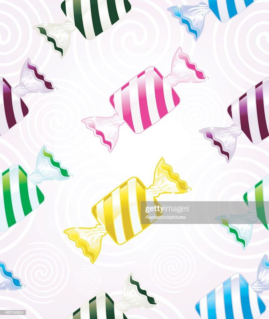 striped Bonbons (seamless pattern)