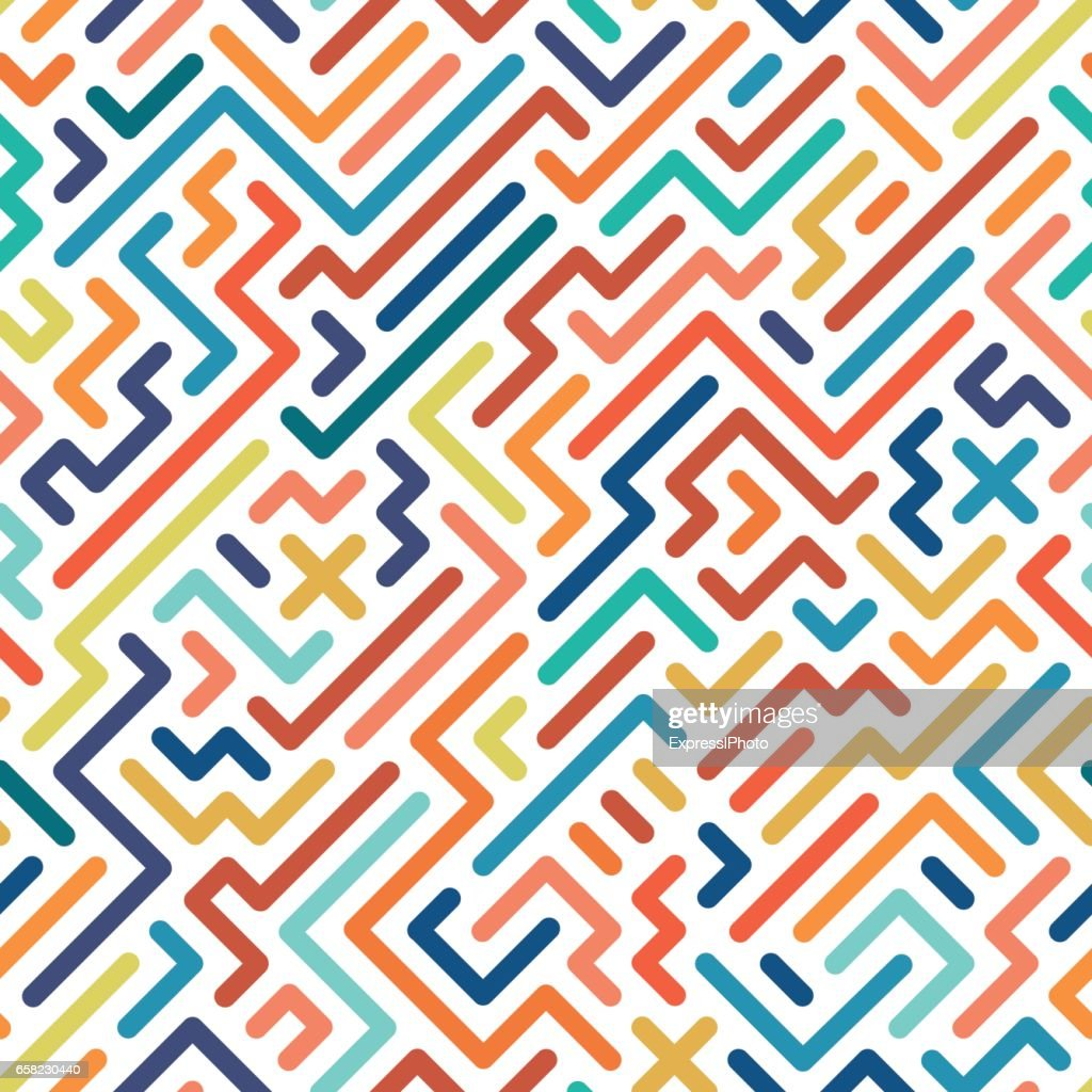 Striped colorful seamless geometric pattern.