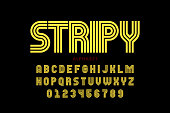 Striped font design