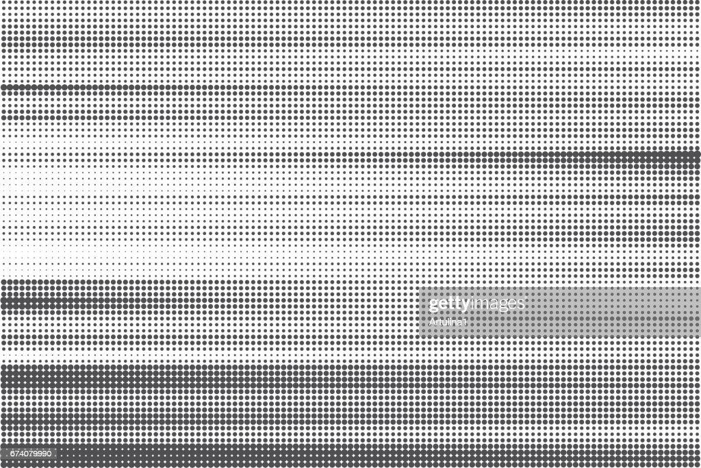 Striped halftone background. Monochrome dots