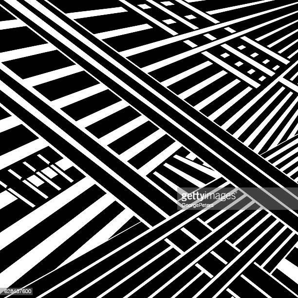 striped halftone pattern cyberspace - road intersection stock illustrations