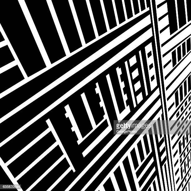striped halftone pattern suggesting cyberspace - stretched image stock illustrations, clip art, cartoons, & icons