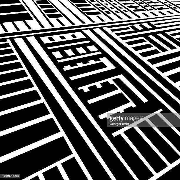 striped halftone pattern suggesting information superhighway - nanotechnology stock illustrations, clip art, cartoons, & icons