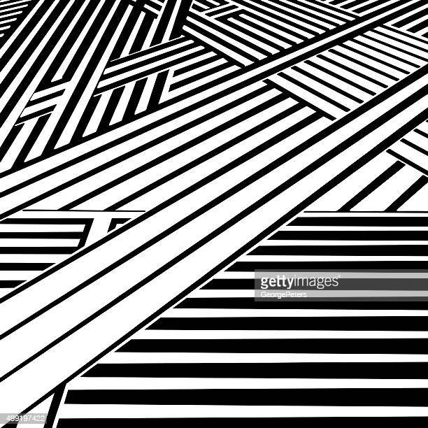 striped halftone pattern with perspective, suggesting cyberspace - road intersection stock illustrations