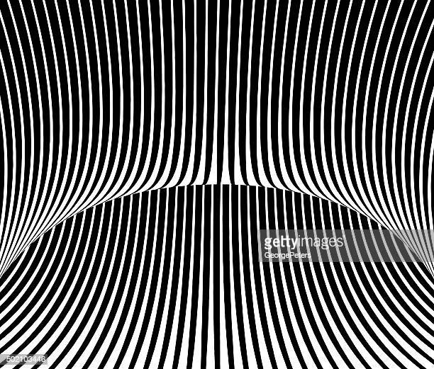 striped halftone pattern with perspective, suggesting cyberspace - stretched image stock illustrations, clip art, cartoons, & icons