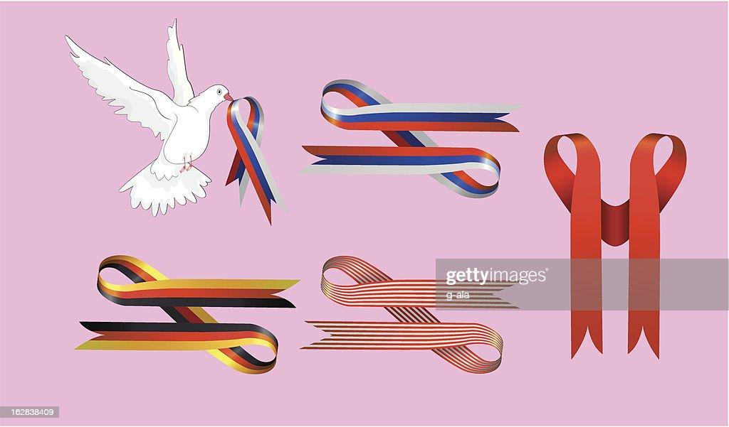 striped ribbons