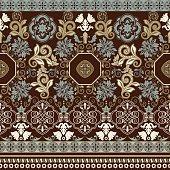 Striped seamless pattern. Colorful ornamental wallpaper